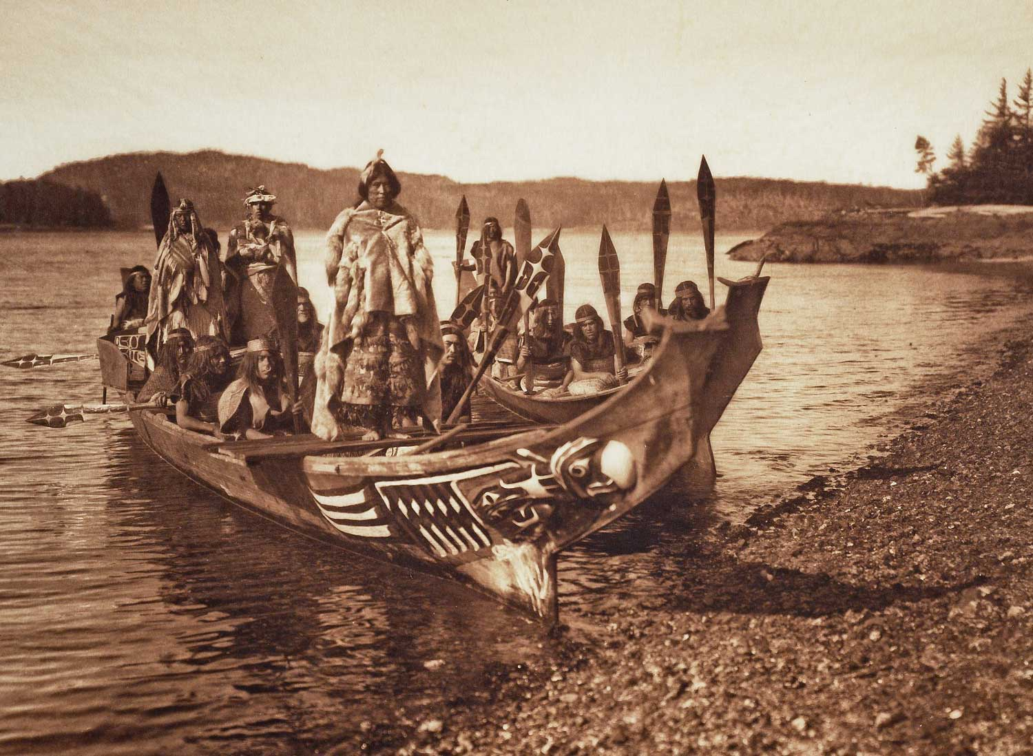 "Edward S. Curtis, ""Wedding Party – Qágyuhl"" (1914)"