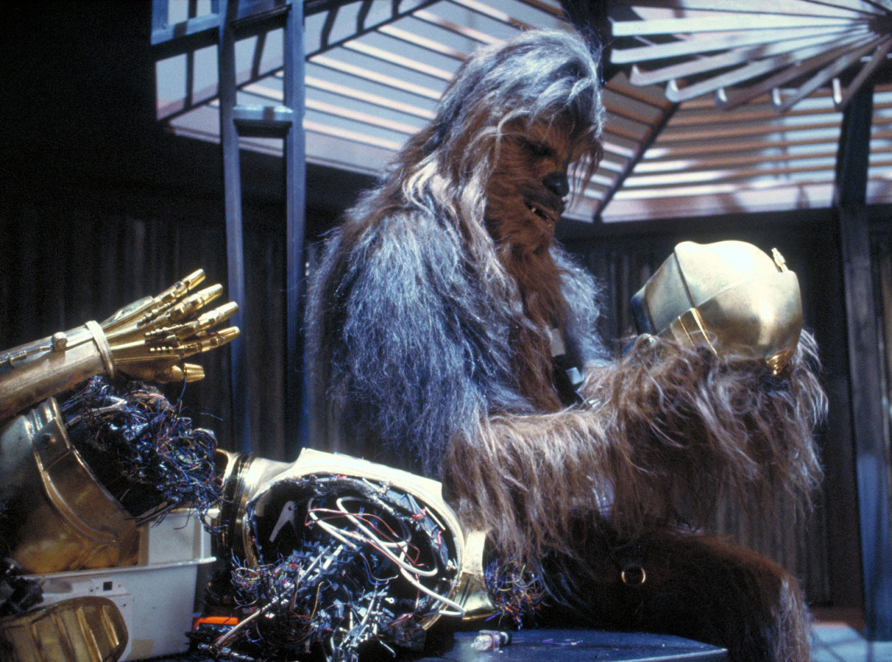 Chewbacca rejoue Hamlet dans Star Wars, Episode V, L'Empire contre-attaque.